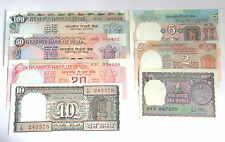 RS 100,50,20,10,5,2,1 - 1985 TO 1990 - R N MALHOTRA - 7 NOTES