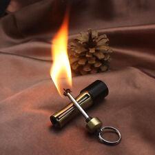 EDC Grenade Fire Flint Matches Kerosene Gas Oil Lighter Keychain Outdoor Camping