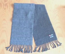 Men's Classic CHAPS Reversible SCARF Gray Purple Striped Fringe 157cm  / 62""