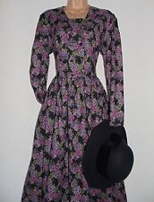 BNWT Laura Ashley vintage wool/cotton autumn/winter dress, size 14 incl new hat