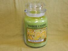 Yankee Candle 22 oz Large Jar Candle  New  ---  Lemon Lime