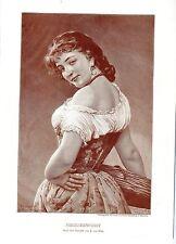 Eugene von Blaas Selbstbewußt Historischer Kunstdruck von 1900