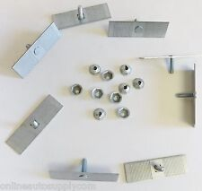 10 Pontiac Body Side Moulding Fasteners 2-1/2 x 3/4 Perforated Clips Bolts Nuts