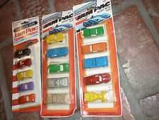 3 vintage 1981 tootsietoy die-cast jam pac 5 car sets (15 cars total) unopened