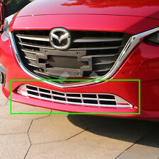 New ABS Chrome Lower Grille Grill Molding Trim For Mazda 3 2014 2015 2016 AXE