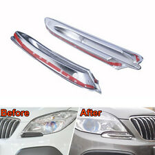 ABS Chrome Headlight Front Light Lamp Eyelid Cover Trim For Encore 2013-2015