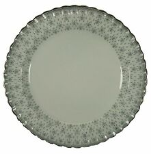 """SPODE china FLEUR DE LIS Y7515 Grey CHOP PLATE Round Platter 12-3/4"""""""