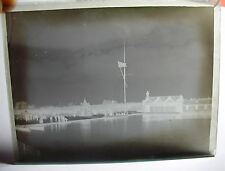 Lot74 c1890s VICTORIAN BEACH SCENE & SAILING BOAT Aberystwyth? Glass Negative