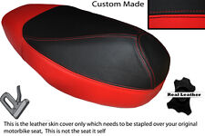 RED & BLACK CUSTOM FITS HONDA SFX 50 DUAL LEATHER SEAT COVER