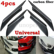4Pcs Universal Real Carbon Fiber Car Front Bumper Lip Splitter Fins Body Canards
