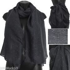 Large Sparkle Glitter Sequin Scarf Celebrity Fashion Party Scarves Sarong Big