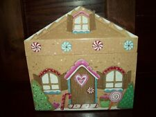 New GINGERBREAD HOUSE RECIPE BOX decorative w 48 cards