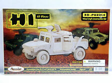 Puzzled H1 Military Humvee Hummer 3D Puzzle Wood Craft Construction Kit