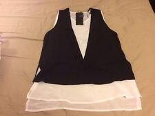 Zara Top With Waistcoat Size M Black