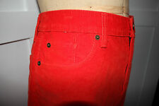 NWT GAP Size 10 Women's Red STRETCH Fine Wale Corduroy Mini Skirt