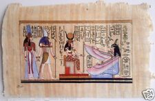 Papyrus Painting From Egyptian Art Caravan of Nefertari protected by Gods
