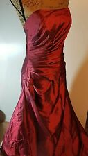 Impression Light Wine colored Formal Strapless Dress Prom Size 14