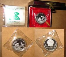 1991 CHINA(PRC) $10 Yr.SHEEP Proof(PP) SILVER 32mm 1oz Lunar coin with COA & BOX