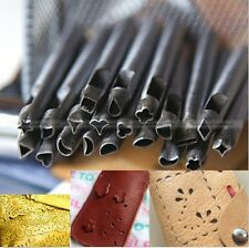 Set of 20 Shaped Punches Leather Tools Craft Punch Stamps Craftools Stamp S1