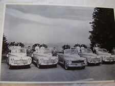 1947 FORD AND MERCURY CONVERTIBLE LINE UP  12 X 18 LARGE PICTURE / PHOTO