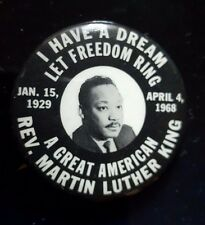 Martin Luther King Jr. I Have A Dream Memorial Photo 1968 Pin Button 1 3/4""