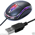 WIRED USB OPTICAL MOUSE FOR PC LAPTOP DESK TOP COMPUTER SCROLL WHEEL - BLACK