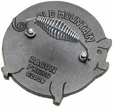 Bacon Press - Pig Shaped Bacon/Grill Press - By Old Mountain (7.5 Inch Diamet...