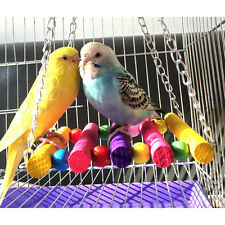 Bird Parrot Parakeet Budgie Cockatiel Cage Hammock Swing Toys Hanging Toy 2017