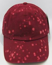 Burgundy Unconstructed Color Dyed Splatter Cap Dad Painter Hat Adjustable NWT