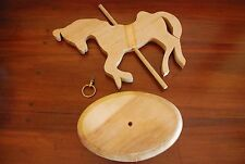 Ready to Paint-Wooden Cutout-Merry-go-round Horse-Estate Sale
