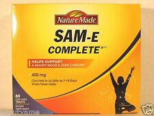 Nature Made SAM-E COMPLETE 400mg, 60 Tablets * Support a Healthy Mood & Joint *