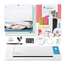 Silhouette CAMEO Vinyl Starter Kit Bundle with PixScan Cutting Mat, White New