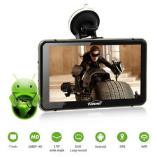 """7"""" Android GPS 1080P HD DVR with Dash Cam Touchscreen FM Transmitter Navigation"""