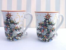 New*Tree Coffee Mug/Cup Set of 2*Williams Sonoma*Twas the Night Before Christmas