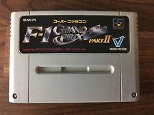 F1 Grand Prix Part II 2 SHVC-FV / NTSC-J Super Famicom SFC SNES JAPAN