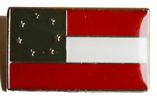 "American Civil War Southern 1st National Flag The ""Stars & Bars""  Pin Badge"