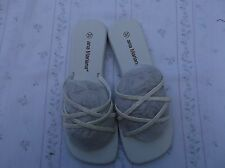 BRAND NEW WHITE BRANDED ANA MARIANA GLITZY STRAPPY SMALL WEDGE SANDALS