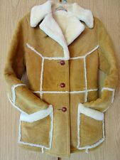 MATTERHORN Eskimos Suede Shearling Coat Lady's size 10 ~~ MADE IN  USA Napa CA