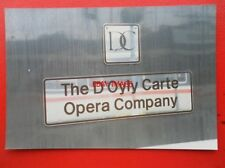 PHOTO  CLASS 90 ELECTRIC NAMEPLATE - 90 004 THE D'OYLY CARTE OPERA COMPANY