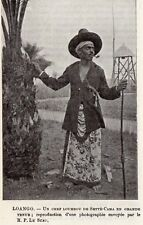 SETTE CAMA CHEF LOUMBOU CONGO GABON IMAGE 1908 OLD PRINT