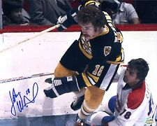 John Wensink Vs Serge Savard Autographed 8x10 Photo Bruins Canadiens SGC