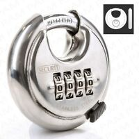 Quality COMBINATION Discus Padlock 70mm Large Garage/Gate/Shed/Garden Door Lock