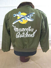 Talla M USAF aviador chaqueta b-10 b10 Flight Jacket Nose art painting mareeba Butchers