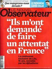 LE NOUVEL OBSERVATEUR N°2604 2 OCTOBRE 2014 RECRUTEE PAR DJIHADISTES/ DOLAN/FOOD
