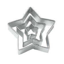 Star Cut Outs Cookie Cutters,Set of 3 ED