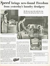1920's BIG Vintage Thor Washing Machine Electric Washer Laundry Photo Print AD