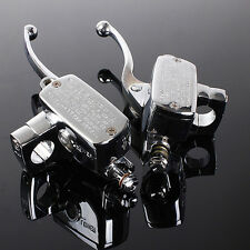 1'' Universal Chrome Motorcycle Brake Master Cylinder Hydraulic Clutch Lever US