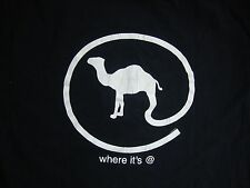 "Camel Cigarettes ""Where it's @"" Black T Shirt Men's Size XL"