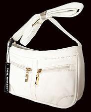 BAG STREET Damentasche, Handtasche, Schultertasche, Weiss 3252