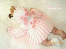 """Pleats Galore"" EASY Knitting Pattern for Baby 0-3 months. (Or Reborn Doll)  #15"